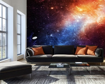 Photo Wallpaper Wall Murals Non Woven Space Galaxy Modern Art Wall Decals  Bedroom Decor Home Design