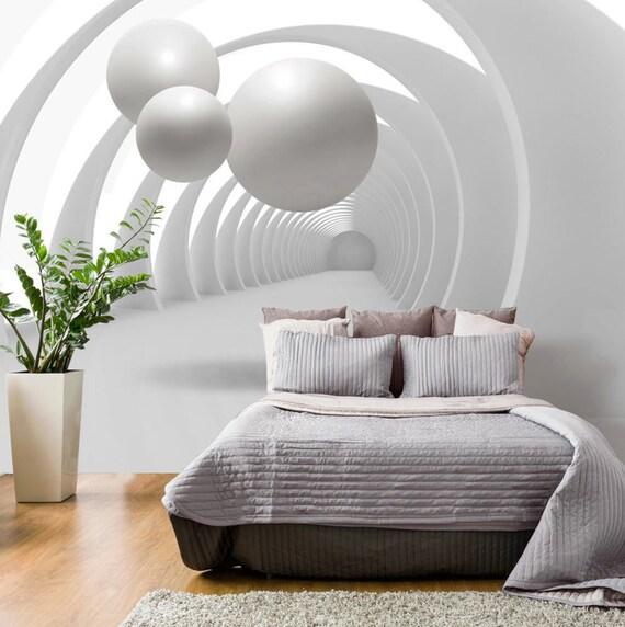 Photo Papier Peint Murales Non Tisse Art Moderne 3d Illusion Etsy