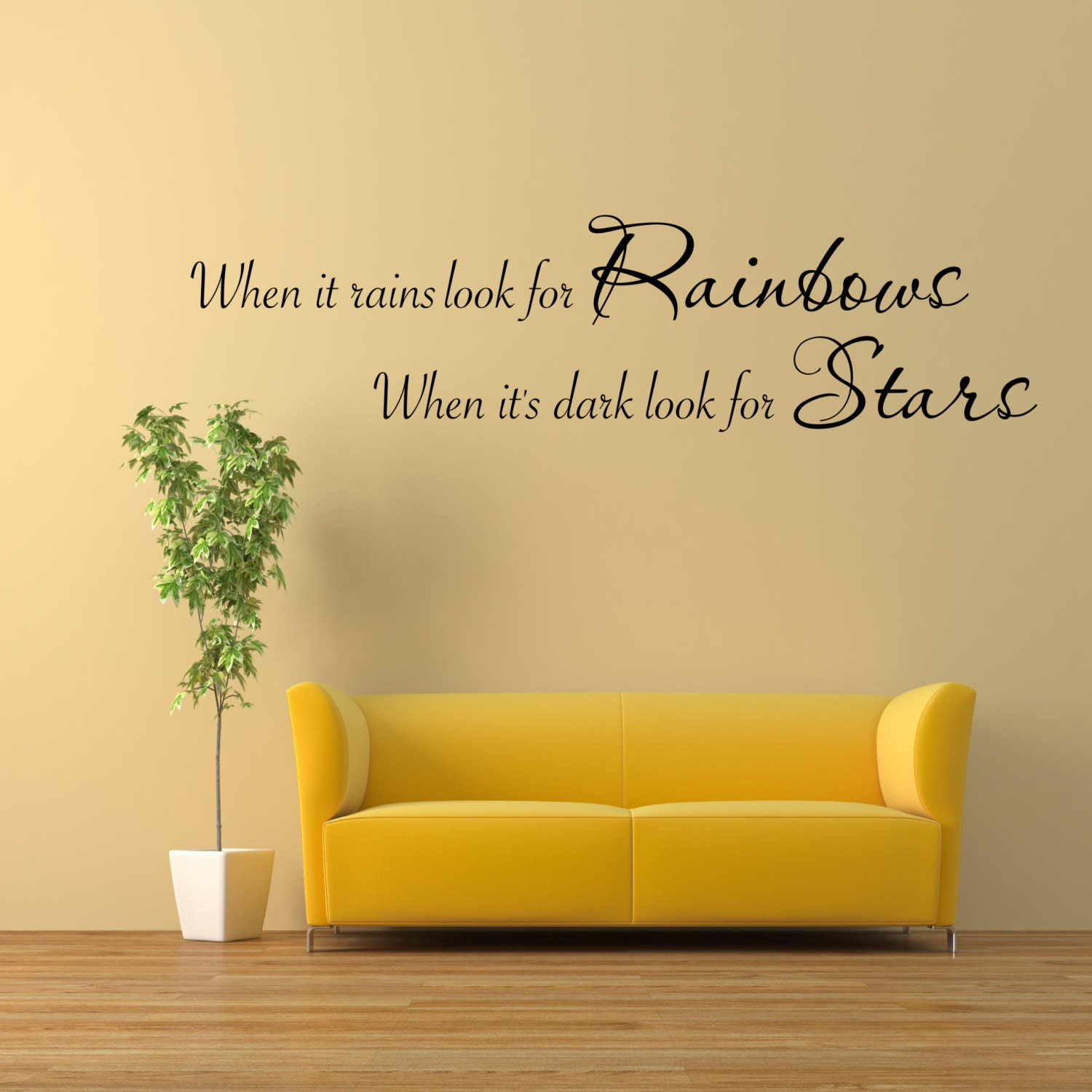Rainbows Stars Wall Art Sticker Room Lounge Quote Decal Mural | Etsy