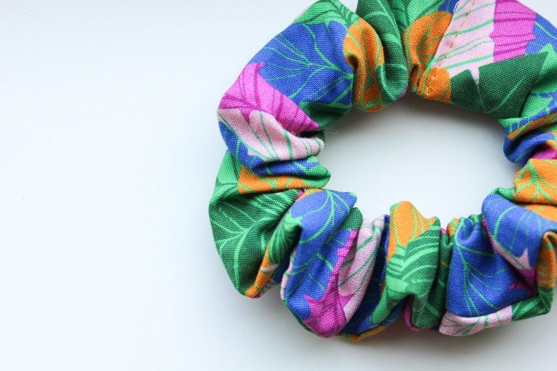 Tropical Palms scrunchies Hawaii Scrunchies Hair Accessories Fall Hair Stocking Stuffers Girl Birthday Gift Topper Girl Gift