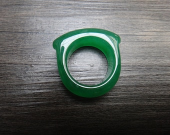 natural jade rings(U.S. ring size:8- 9)