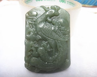 Chinese phoenix pendant natural jade pendant Lucky Charms