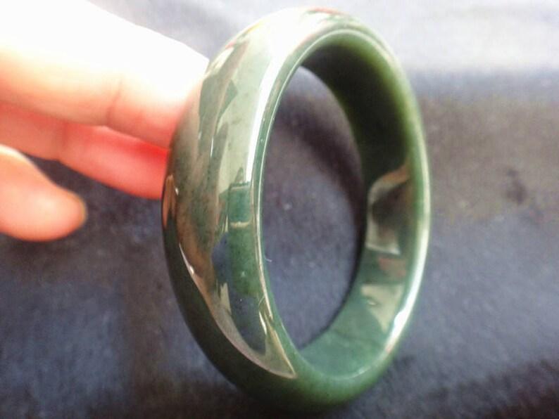 61.8mm natural green jade bracelet