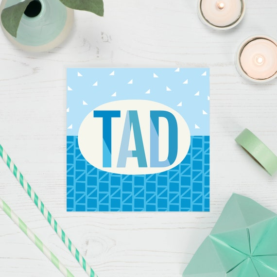 Welsh Dad Card Tad Birthday