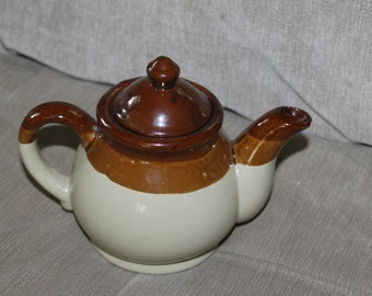 Price Kensington Phoenician Large Coffee PotBrown Cream Orange Bark EffectWood PatternCoffee PotVintage1960s