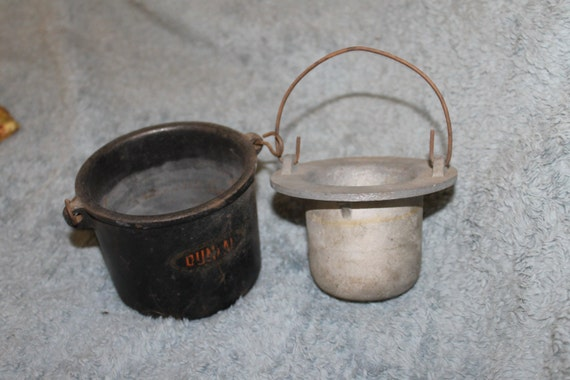 SALE Antique Cast Iron Double Boiler Water Bath | Etsy