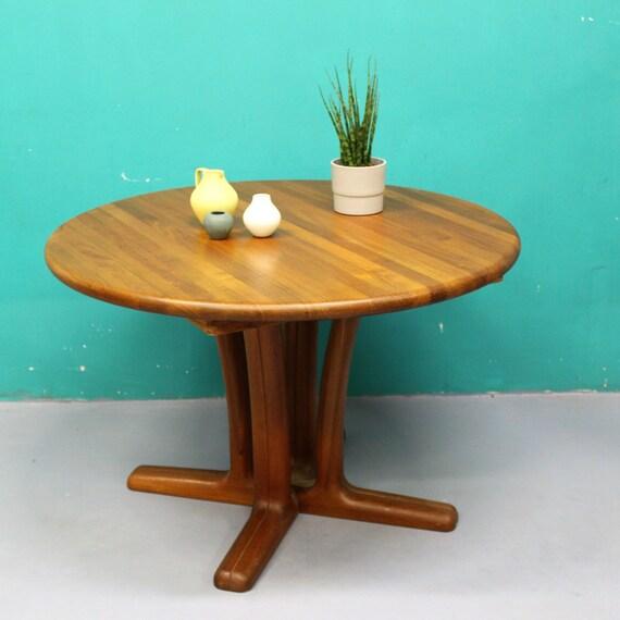 tavolo pranzo tondo legno teak massello design danese anni 60 | Etsy