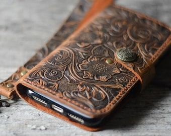 Genuine   leather Wallet iPhone 8  Plus Case   leather Case Wallet, iPhone 8 /8 plus  X   case iphone 6s /  7 plus leather case  wristlet