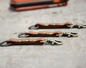 Leather keychain, leather keyring , leather key fob, initials , key clip,Keychain Leather Men's Simple  ClipKeychain, Keychain Leather
