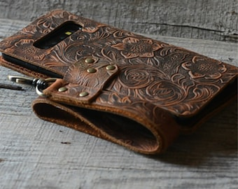 Handmade Samsung Galaxy Samsung S20 FE 5G s10 5G Leather Wallet Case S10 plus s case  s10e leather case  leather   s9 plus  s9+  s9 case