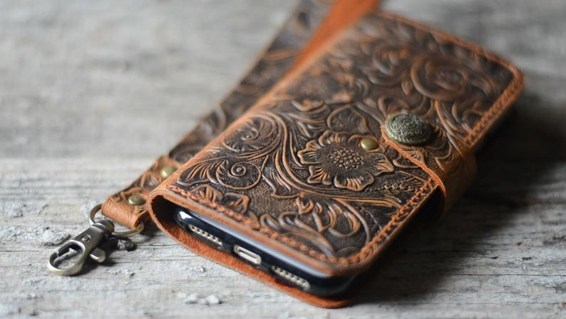 online retailer b3de9 6914a Genuine leather Wallet iPhone XS Max / XS / XR leather Case Wallet iPhone 8  /8 plus X case iphone 6s / 7 plus leather case wristlet