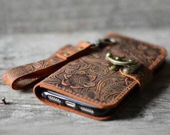 Genuine   leather Wallet iPhone 7 Plus Case   leather Case Wallet, iPhone 8 /8 plus  X   case iphone 6s /  7 plus leather case  wristlet