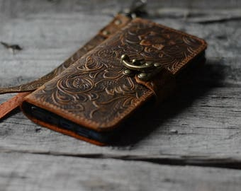 Handmade Samsung Galaxy  NOTE 9  Leather Wallet Case   NOTE 8 Leather case
