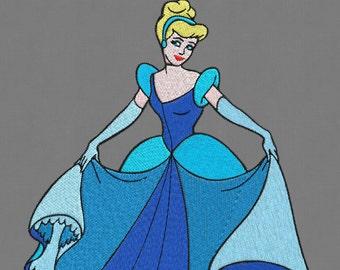 embroidery Cinderella Princess design disney 5x7 pes hus jef vip vp3 dst exp