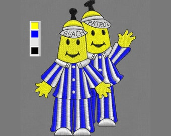 embroidery design Bananas pajamas kid pes hus jef