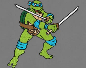 Ninja Turtle embroidery designs 4x4 pes hus jef vp3 exp dst xxx