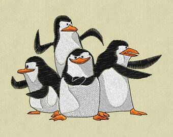 embroidery design Penguins pes hus jef in zip