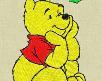 embroidery 3 designs Winnie Pooh pes hus jef in zip