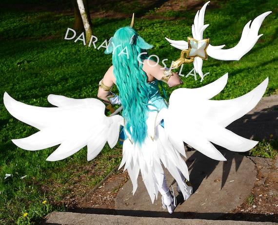 New League of Legends Star Guardian Soraka Cosplay Wings Handmade Prop