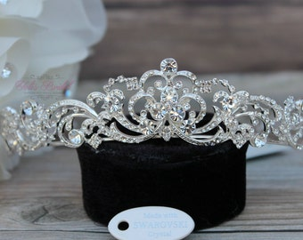 Swarovski Tiara, QuinceaneraTiara, CrystalTiara ,Wedding Tiara ,Crown , Wedding Headpiece, Bridal Tiara, Crystal Headpiece, Bridal Headpiece