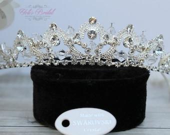SALE*SALE!!! Swarovski Tiara, Quinceanera Tiara, CrystalTiara ,Wedding Tiara ,Crown, Bridal Tiara, Crystal Headpiece