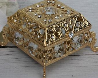 Ring Box or Wedding Unity Coins, Wedding Arras