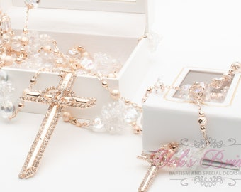540a5c7f9d01a Beautiful Wedding Lasso and Matching Rosary in Rose Gold