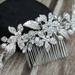 FAST SHIPPING!!! Silver Bridal Hair Comb, Silver Wedding Hair Comb, Crystal Hair Comb, Swarovski Hair Comb, Headpiece, Crystal Headpiece