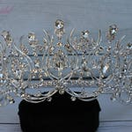 FAST Shipping!!! Silver Swarovski Tiara, CristalTiara, Wedding Tiara, Crown, Princess Tiara, Quinceañera, Cristal Headpiece, Sweet 16 Tiara
