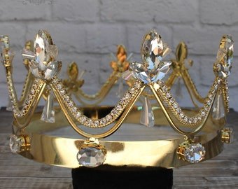 King crown etsy male full round crown king crown adult king crown vintage mens crown round crown crystal crown groom crown medieval thecheapjerseys Image collections