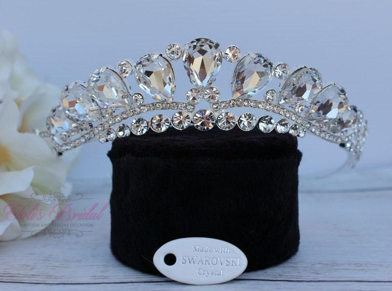 cac3dc3b3 Swarovski Tiara QuinceaneraTiara Crystal Tiara Wedding   Etsy