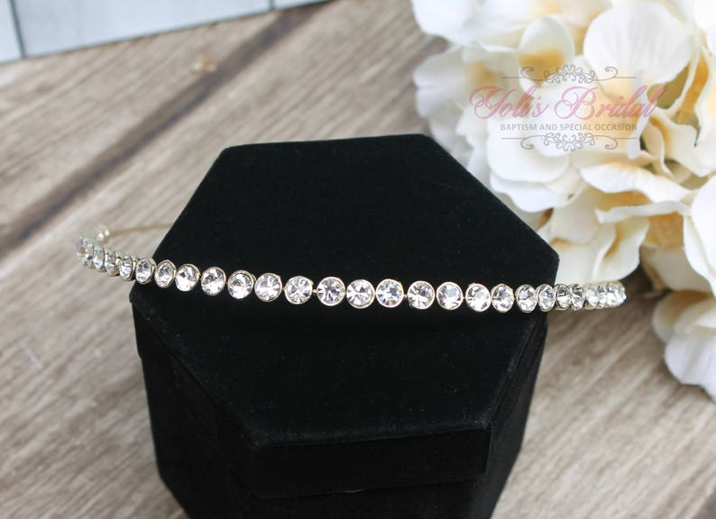 FAST SHIPPING Gorgeous Bridal Headband Bridesmaid Gold image 0