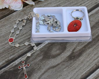 SALE*SALE!! Handcrafted Beautiful Confirmation Rosary, Confirmation Rosary, Rosary Gift, Confirmation Gift, Confirmation Day