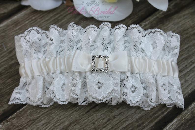 FAST Shipping  Beautiful Ivory Wedding Garter Bridal image 0