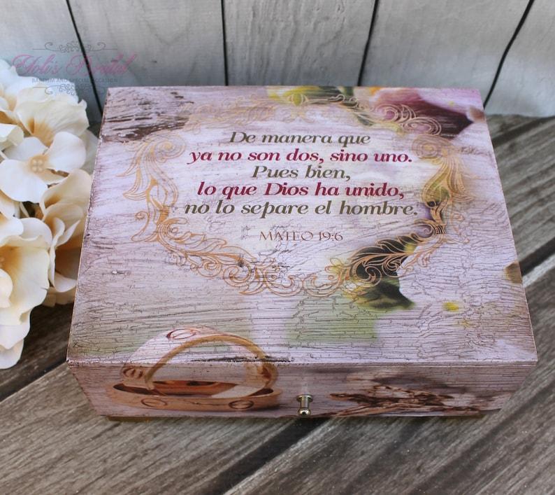 FAST Shipping Beautiful Wedding Wooden Box Spanish Wedding image 1