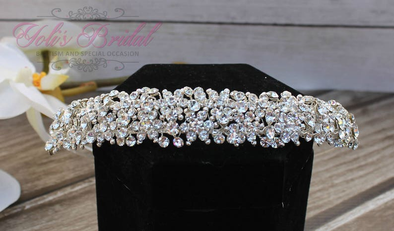 FAST SHIPPING Crystal Tiara Wedding Tiara Crown Princess image 0