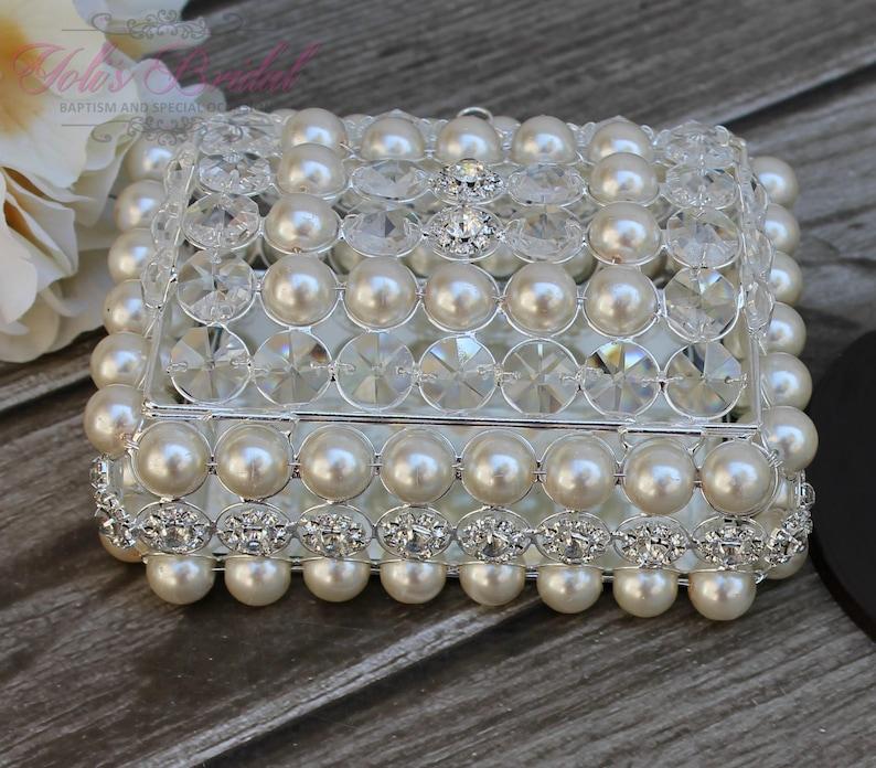 NEW Beautiful Crystal and Pearl Box Wedding Lasso Box image 1