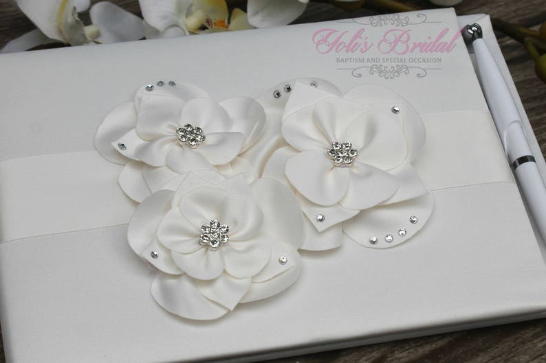 FAST SHIPPING Guest Book Ivory Guest Book Off White Guest image 0