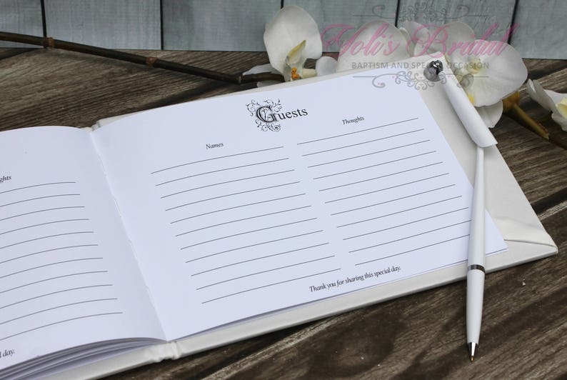 FAST SHIPPING! Vintage Guest Book Guest Book Wedding Guest Book Shabby Chic Guest Book Ivory Guest Book Off White Guest Book Romantic