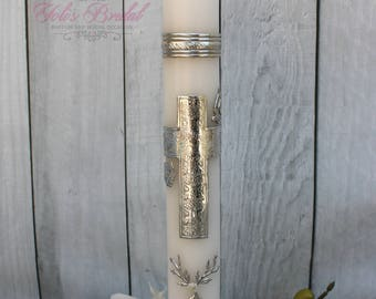 FAST SHIPPING!! Beautiful Silver Candle for any occasion, Wedding Candle, Christening Candle, Baptism Candle, Communion Candle, Confirmation