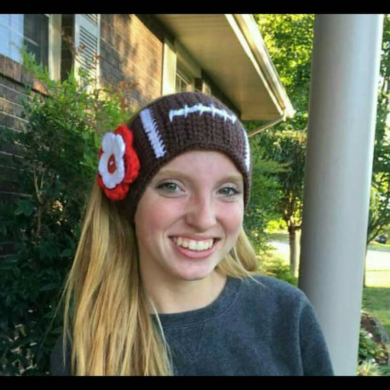 Crochet Football Headband Ear Warmer Custom Colors  5c2704cf62c