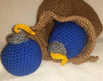 Link's Crochet Bomb Bag inspired from the Legend of Zelda