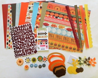 Fall Scrapbook kit,12 x 12 page kit, Fall pages,DIY scrapbook pages