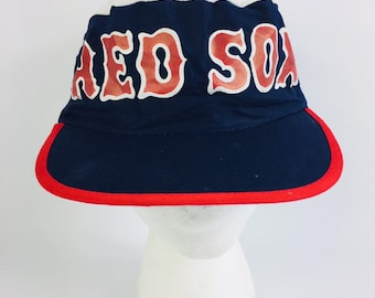 92ff991e7eb Vintage Boston Red Sox Major League Baseball Painters Cap Hat - Sports Fan  - Red   Blue   White - Massachusetts