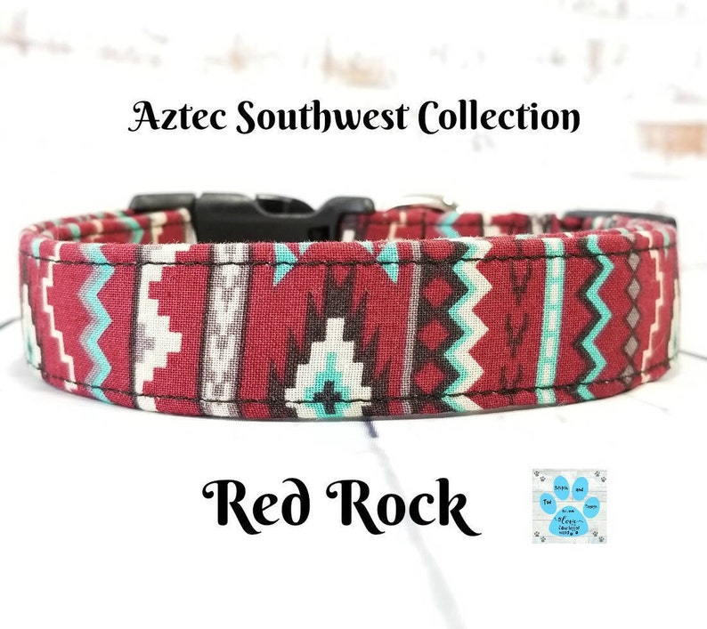 79b7b4a68e3a69 Native Dog Collar Aztec Dog Collar Navajo Dog Collar Tribal