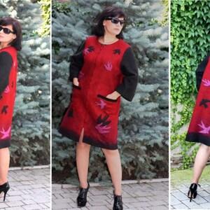 Gift Idea Gift felt eco naturally felt.Love Handmade,Author jacket The fun woolen fashion Beautiful
