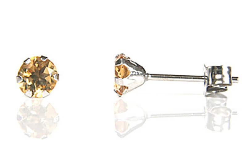 9ct Gold Citrine Teardrop drop earrings Gift Boxed Made in UK