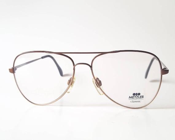 0c5e1d81d9 Vintage Metzler International Classic Bronze Aviator Eyeglass