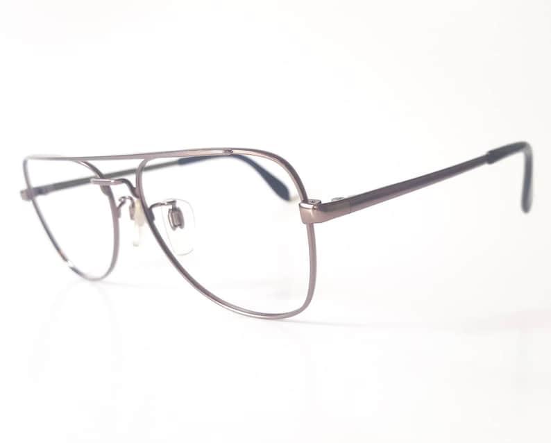 a0779233a2 Vintage Metzler Bronze Square Aviator Eyeglass Frame Circa