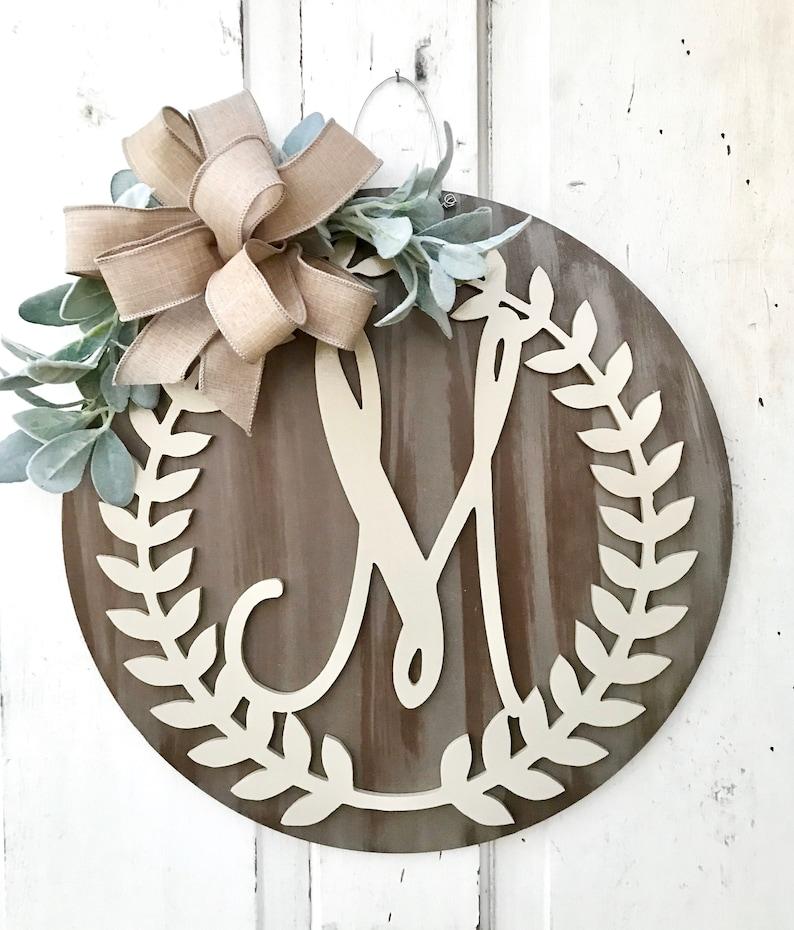 Monogram Door Hanger Personalized Door Hanger Front Door image 0